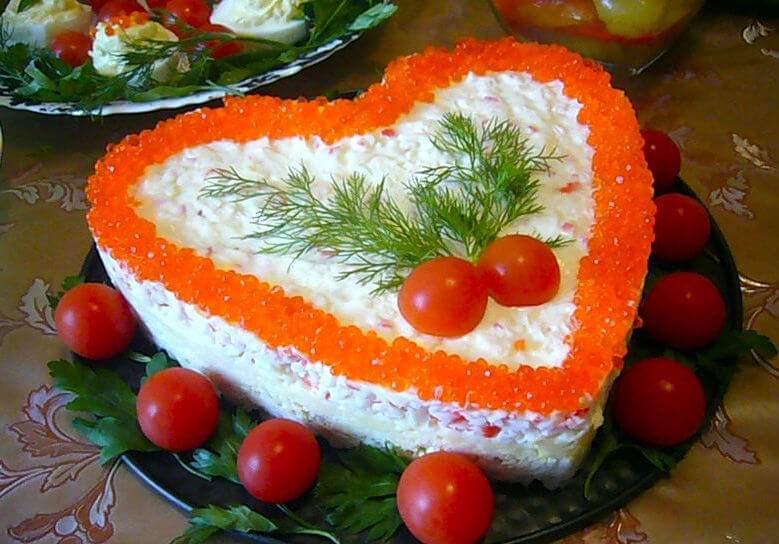 Рецепты праздничных салатов украшения фото